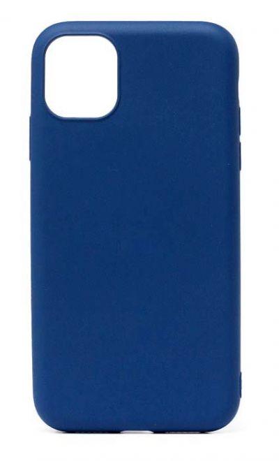 Чехол - накладка для iPhone 11 силикон Dark Blue org