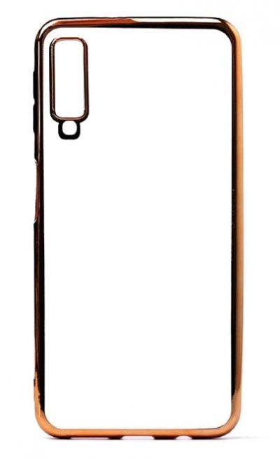 Чехол - накладка для Samsung A7 (2018) силикон Gold Frame