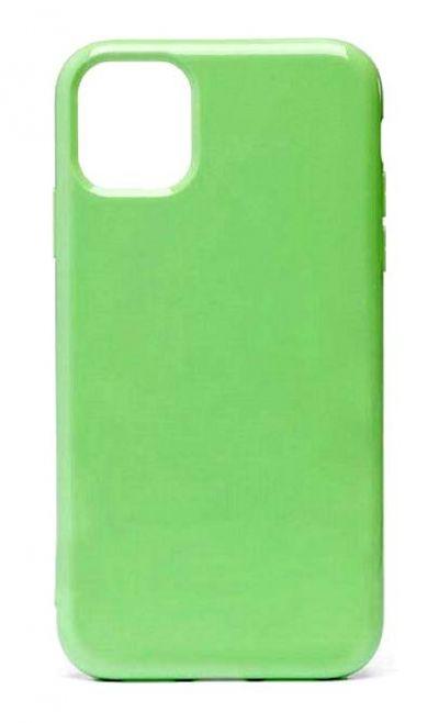 Чехол - накладка для iPhone 11 силикон Gloss Light Green