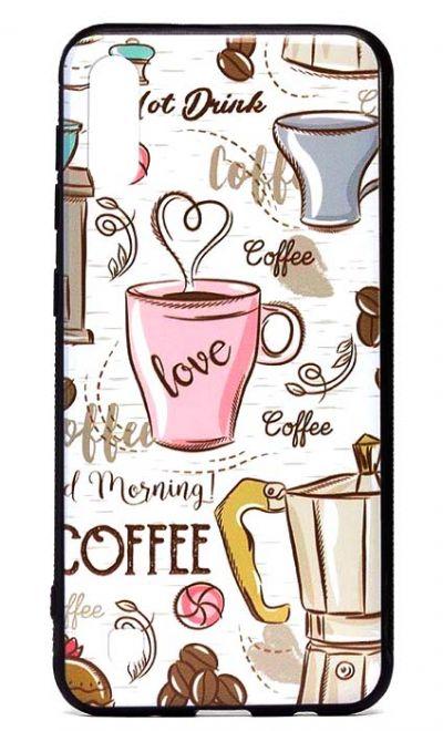 Чехол - накладка для Samsung A10 силикон Coffee Love