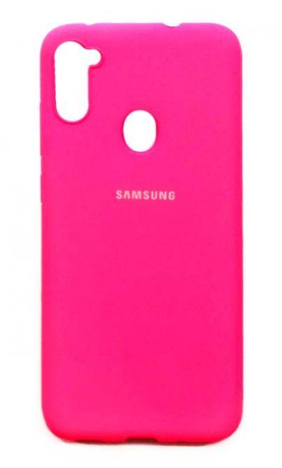 Чехол - накладка для Samsung A11 / M11 силикон TPU Pink org