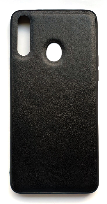 Чехол - накладка для Samsung A20s силикон Leatherette Black