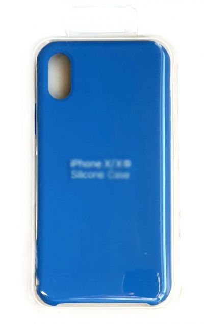 Чехол - накладка для iPhone X / XS Silicone Case Blue
