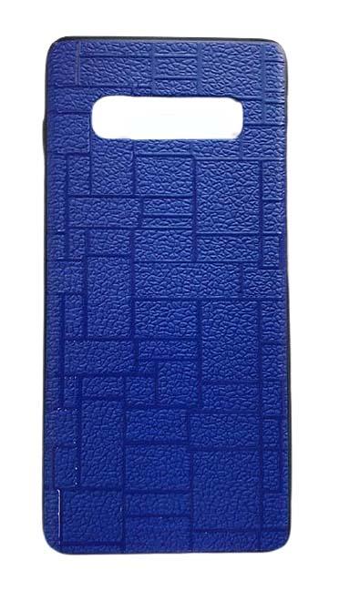 Чехол - накладка для Samsung S10 пластик Brick Dark Blue