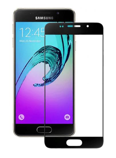 Защитное стекло для Samsung J3 (2017) на весь экран, черная рамка