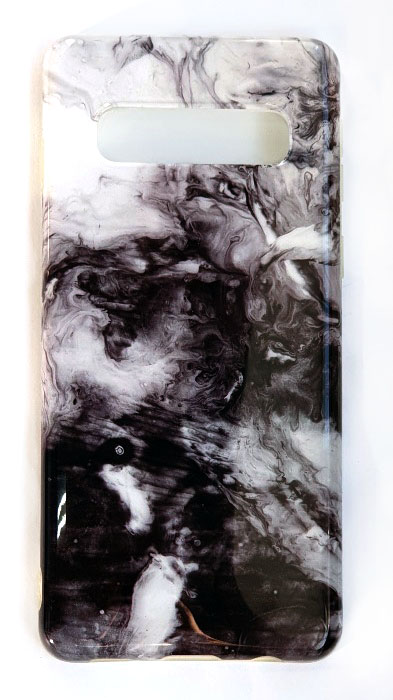 Чехол - накладка для Samsung S10 Plus силикон Marble Grey