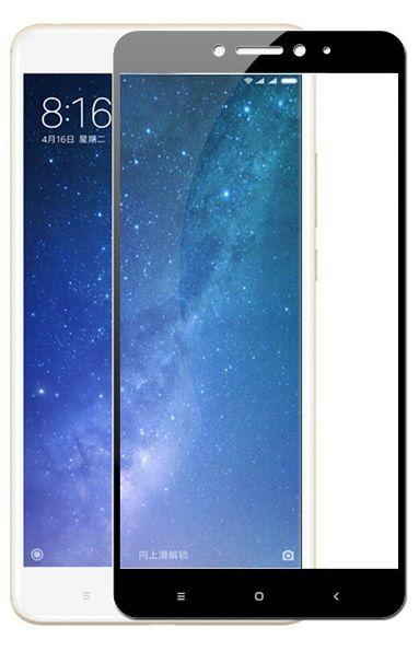 Защитное стекло для Xiaomi Mi Max 2, на весь экран, черная рамка