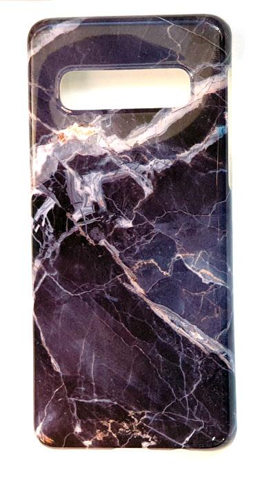 Чехол - накладка для Samsung S10 Plus силикон Marble Black