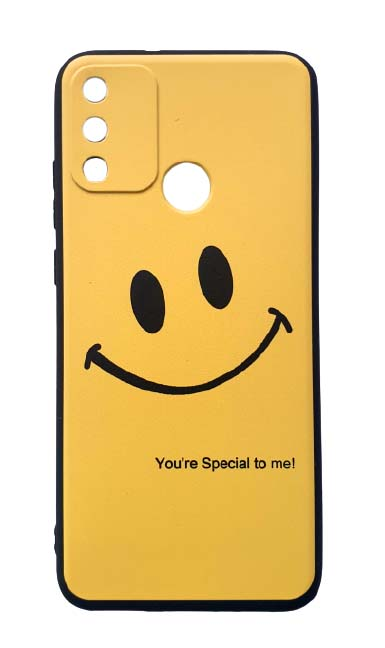 Чехол - накладка для Honor 9A силикон Smile Yellow