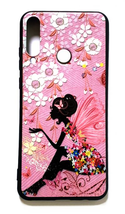 Чехол - накладка для Huawei Y6P силикон Girl Flowers