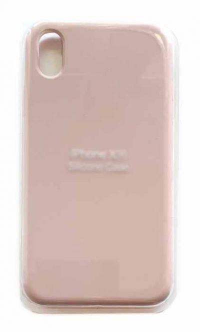 Чехол - накладка для iPhone XR Silicone Case Sand Pink