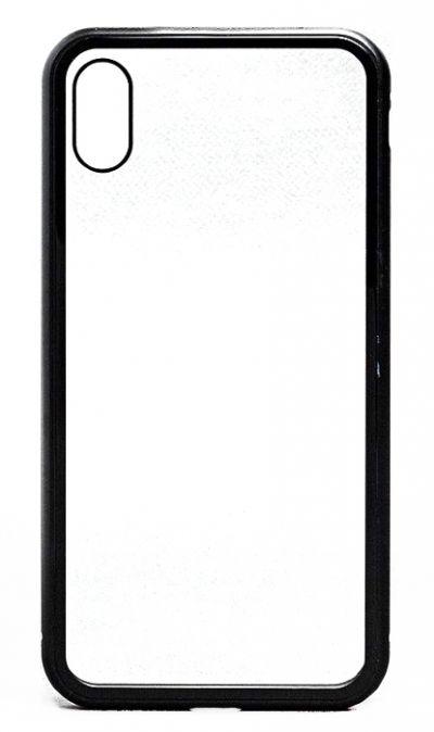 Чехол - накладка для iPhone X / XS Max стекло, магнитный Black
