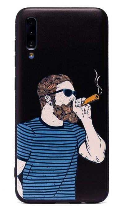 Чехол - накладка для Samsung A70 силикон Hipster