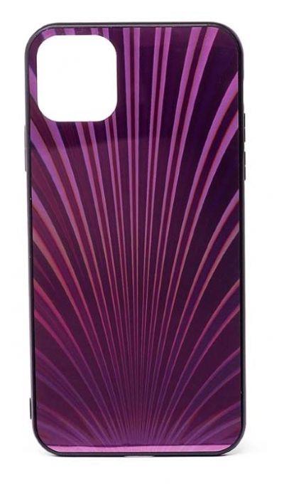 Чехол - накладка для iPhone 11 Pro Max силикон Protective Glass Shines Rose Red