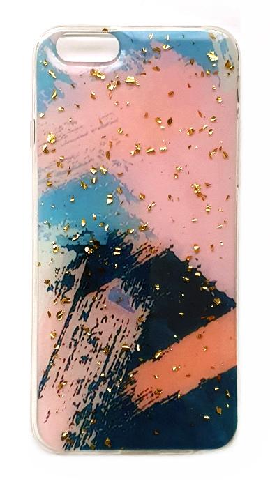 Чехол - накладка для iPhone 6 / 6S силикон Sparkles Abstract №6