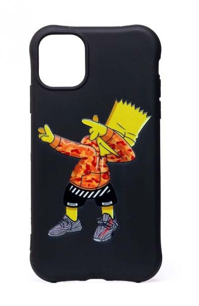 Чехол - накладка для iPhone 11 силикон Bart Simpson