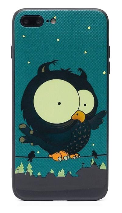 Чехол - накладка для iPhone 7 / 8 Plus силикон Frightened Owl