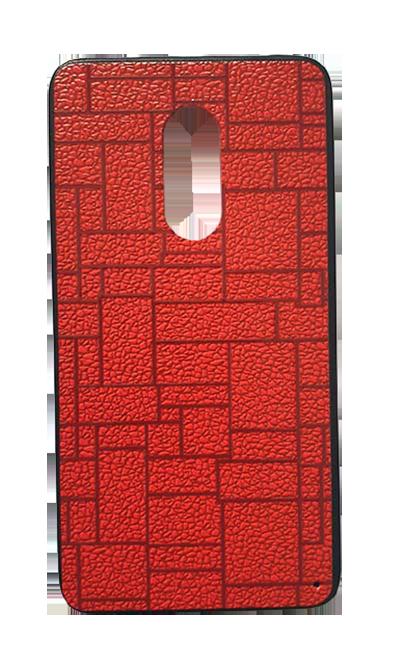 Чехол - накладка для Xiaomi Redmi Note 4X пластик Brick  Red