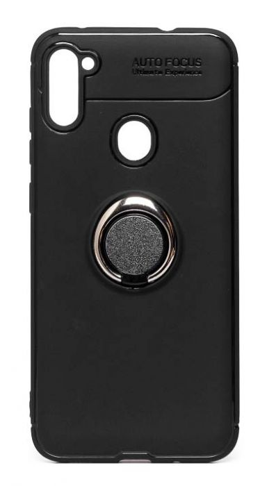 Чехол - накладка для Samsung A11 / M11 силикон Ring - Holder Black