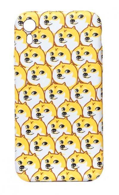 Чехол - накладка для iPhone XR силикон Akita Inu