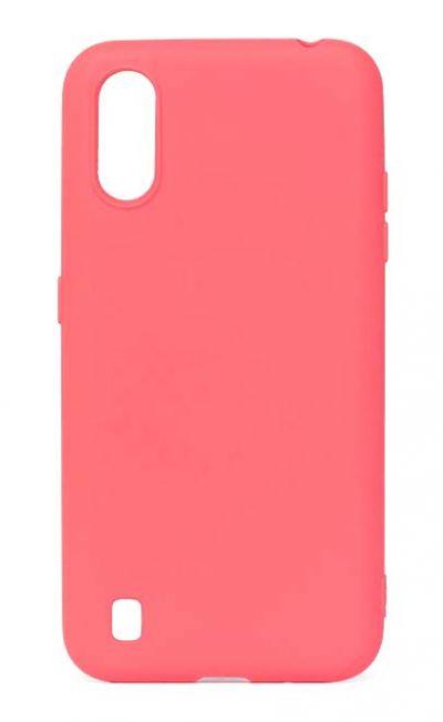 Чехол - накладка для Samsung A01 / M01 силикон Activ Full Pink