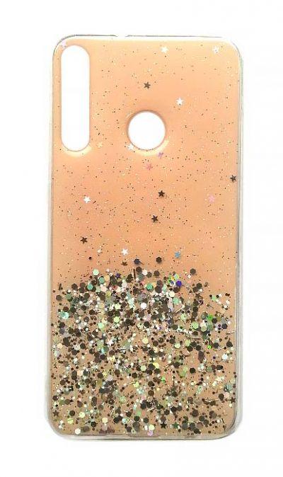 Чехол - накладка для Honor 9C / Huawei P40 Lite E силикон Tinsel Sand Pink