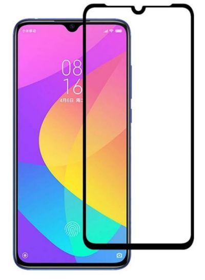 Защитное стекло для Xiaomi Mi 9 Lite на весь экран, черная рамка