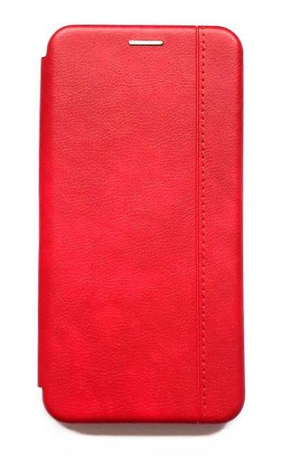 Чехол - книжка для Xiaomi Redmi Note 9 полиуретан Fashion Case Red