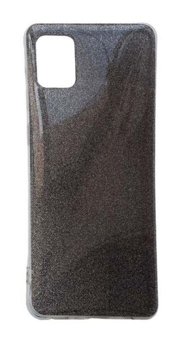 Чехол - накладка для Samsung A31 силикон Glamour Black