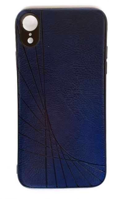 Чехол - накладка для iPhone XR силикон Leatherette Blue