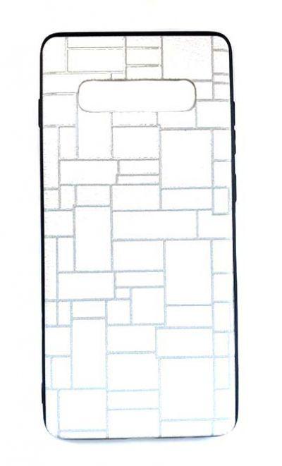 Чехол - накладка для Samsung S10 пластик Brick White