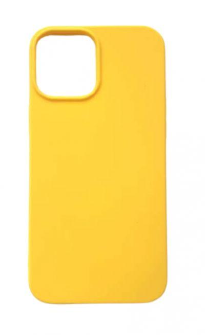 Чехол - накладка для iPhone 12 Pro Max силикон Yellow