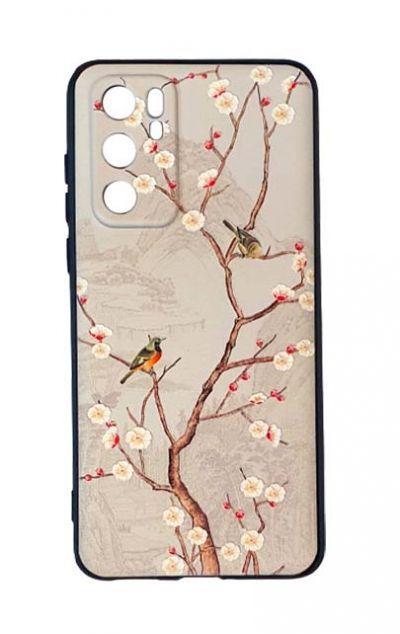 Чехол - накладка для Huawei P40 силикон Birds