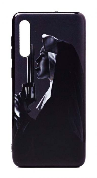 Чехол - накладка для Samsung A50 / A30s силикон Nun with Guns