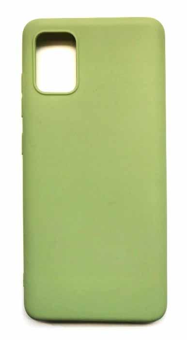 Чехол - накладка для Samsung A51 силикон Olive