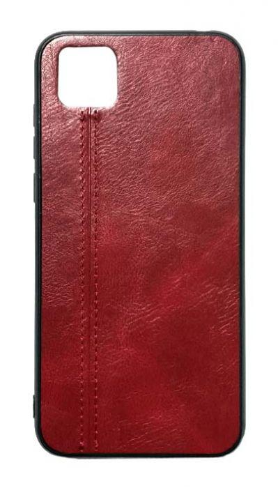Чехол - накладка для Honor 9S / Huawei Y5P силикон Leatherette line Burbon