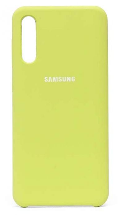 Чехол - накладка для Samsung A70 Silicone Cover Green