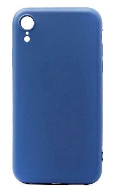 Чехол - накладка для iPhone XR силикон Dark Blue org
