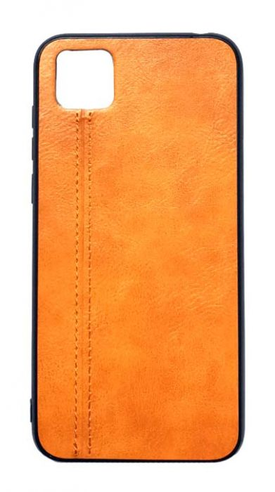 Чехол - накладка для Honor 9S / Huawei Y5P силикон Leatherette line Brown