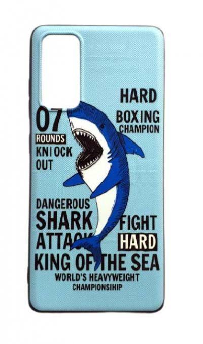 Чехол - накладка для Samsung S20 FE силикон Shark Attack