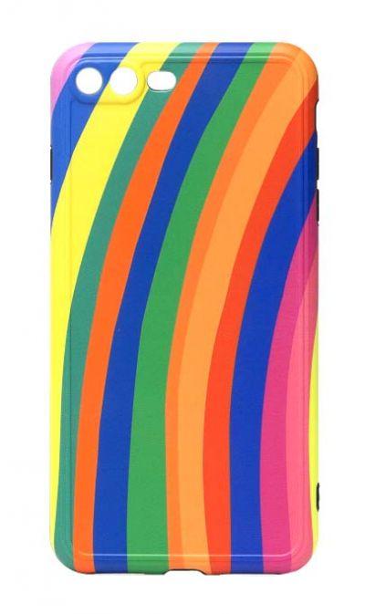 Чехол - накладка для iPhone 7 / 8 Plus силикон Rainbow