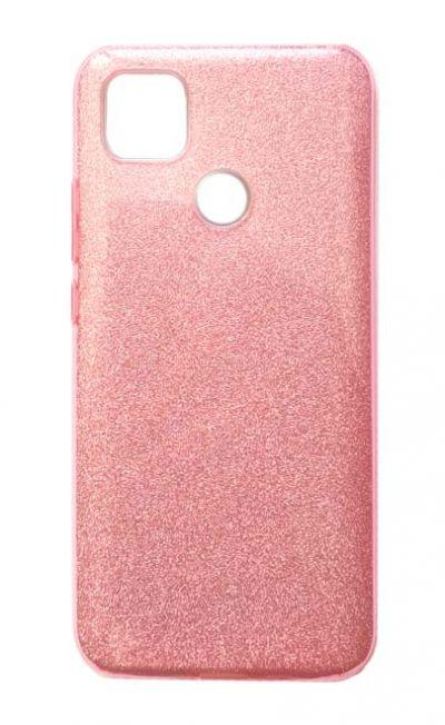 Чехол - накладка для Xiaomi Redmi 9C силикон Tinsel Pink
