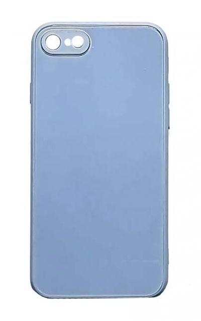 Чехол - накладка для iPhone 7 / 8 / SE 2020 силикон Shiny Glass Violet org