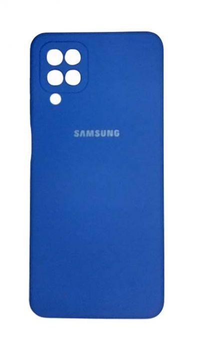 Чехол - накладка для Samsung A12 / M12 силикон Dark Blue org