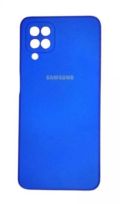 Чехол - накладка для Samsung A12 / M12 силикон Party Blue org