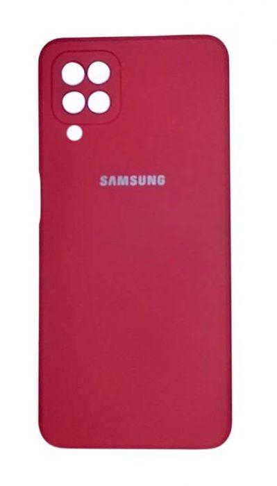 Чехол - накладка для Samsung A12 / M12 силикон Magenta org