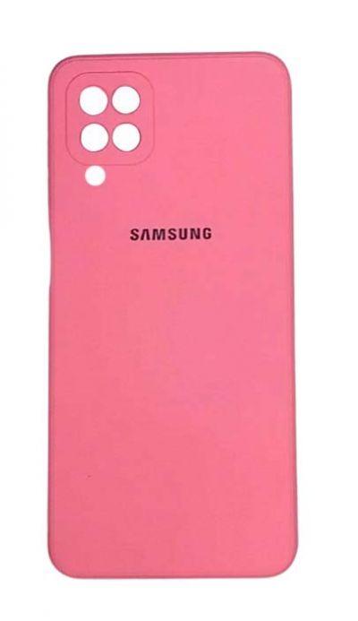 Чехол - накладка для Samsung A12 / M12 силикон Pink org