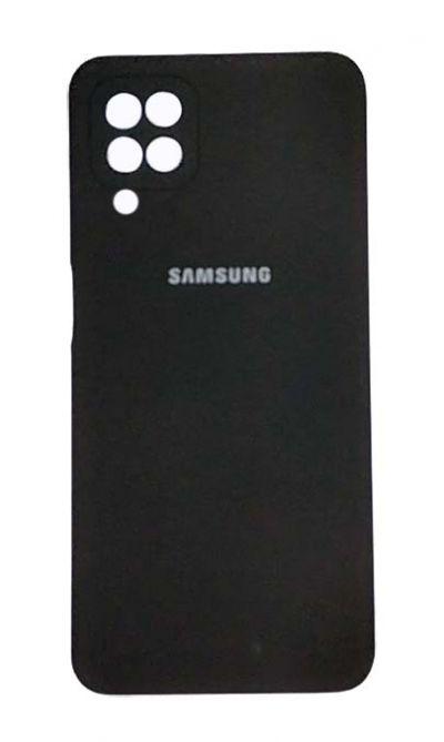 Чехол - накладка для Samsung A12 / M12 силикон Black org