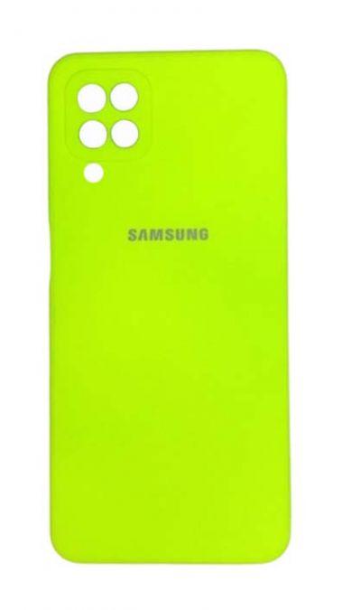 Чехол - накладка для Samsung A12 / M12 силикон Party Green org