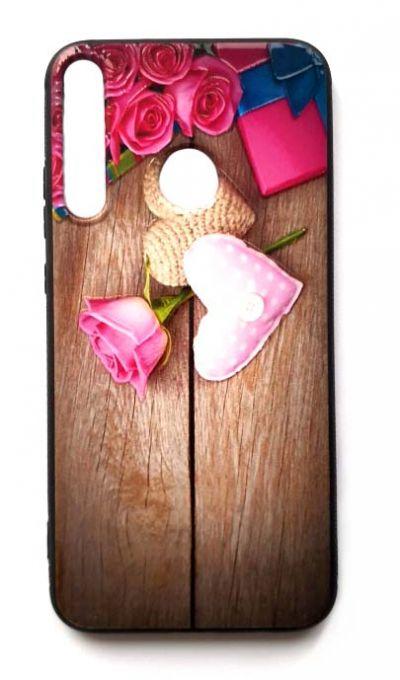 Чехол - накладка для Honor 10i силикон Rose & Hearts